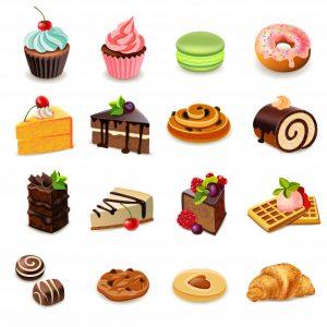 עוגות איורים