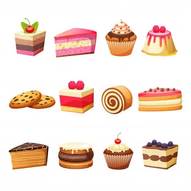 איור עוגות