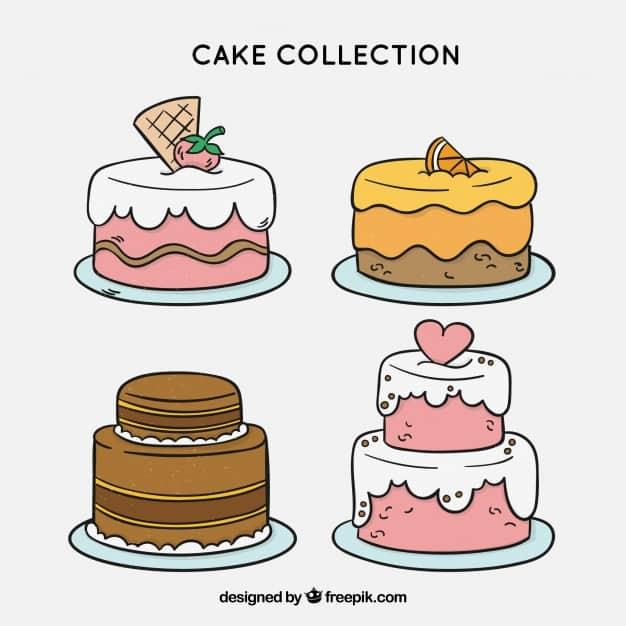 סוגי עוגות יומולדת איור