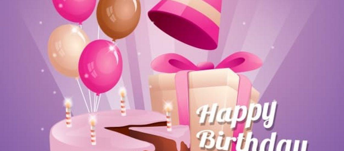 עוגת יום הולדת איור